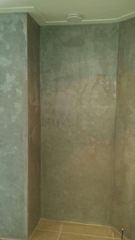 Beton-cire-muur